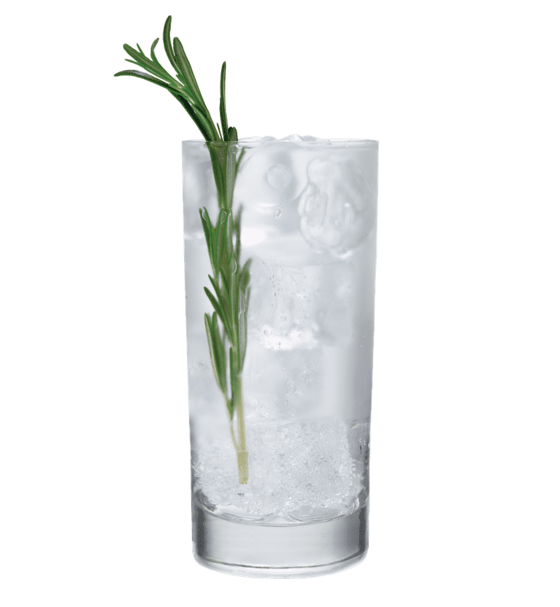 BELVEDERE AND TONIC cocktail